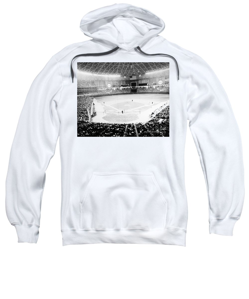 1965 Sweatshirt featuring the photograph Baseball: Astrodome, 1965 by Granger
