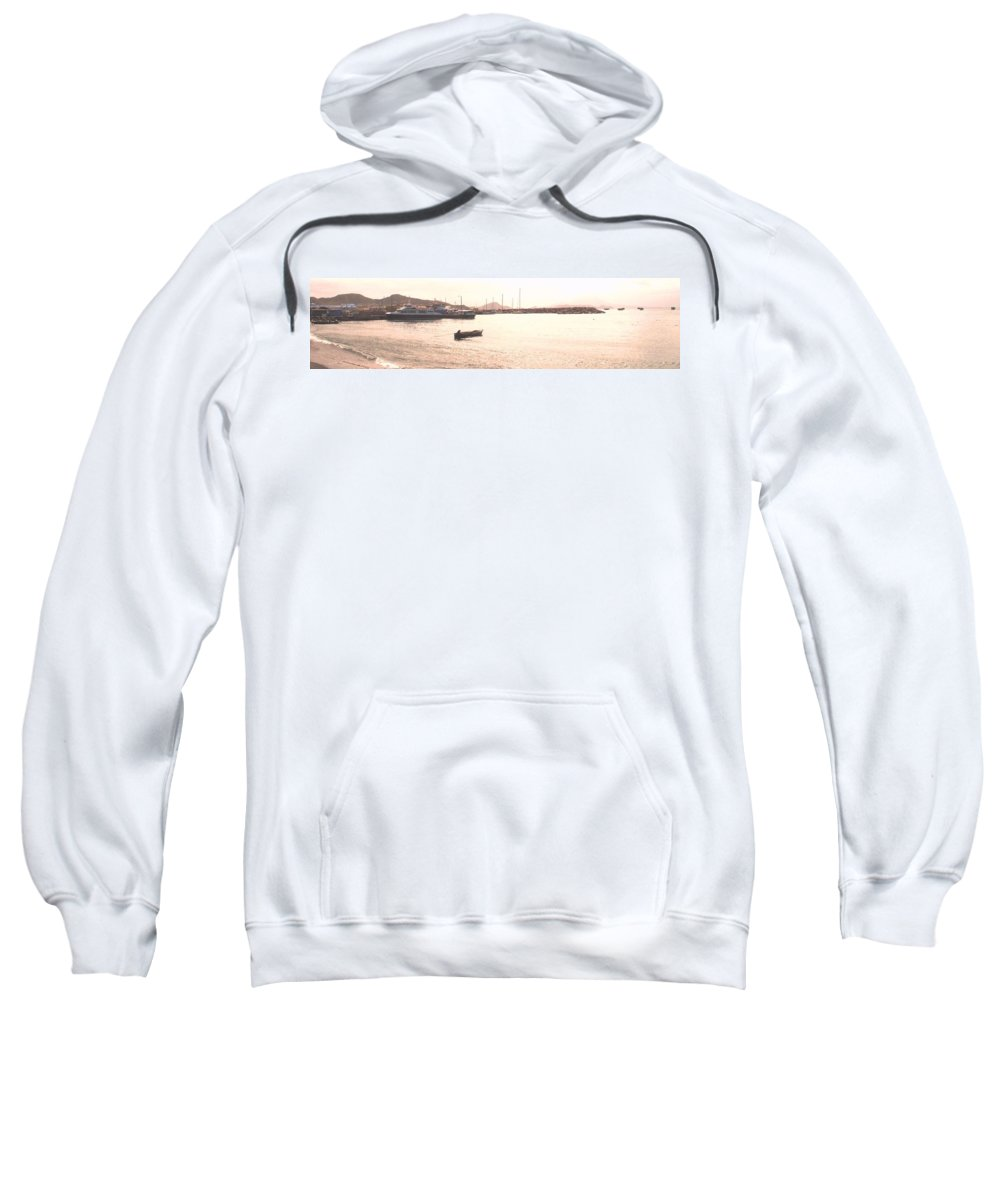 St Kitts Sweatshirt featuring the photograph Basseterre Harbour by Ian MacDonald