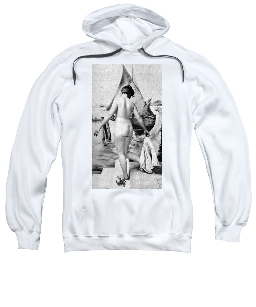 1902 Sweatshirt featuring the photograph Bathing Nude, 1902 by Granger