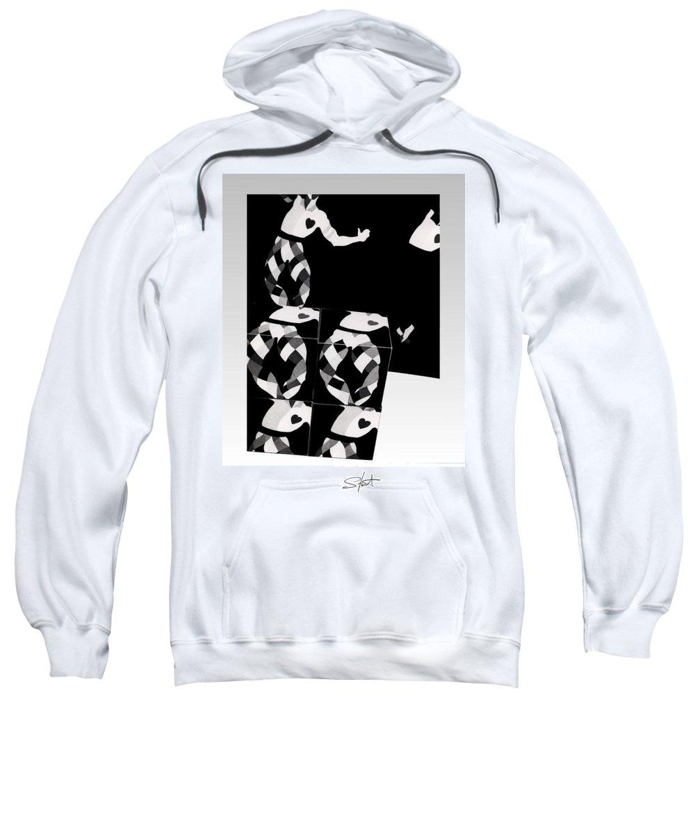 Dance Sweatshirt featuring the photograph Bauhaus Ballet 2 The Cubist Harlequin by Charles Stuart