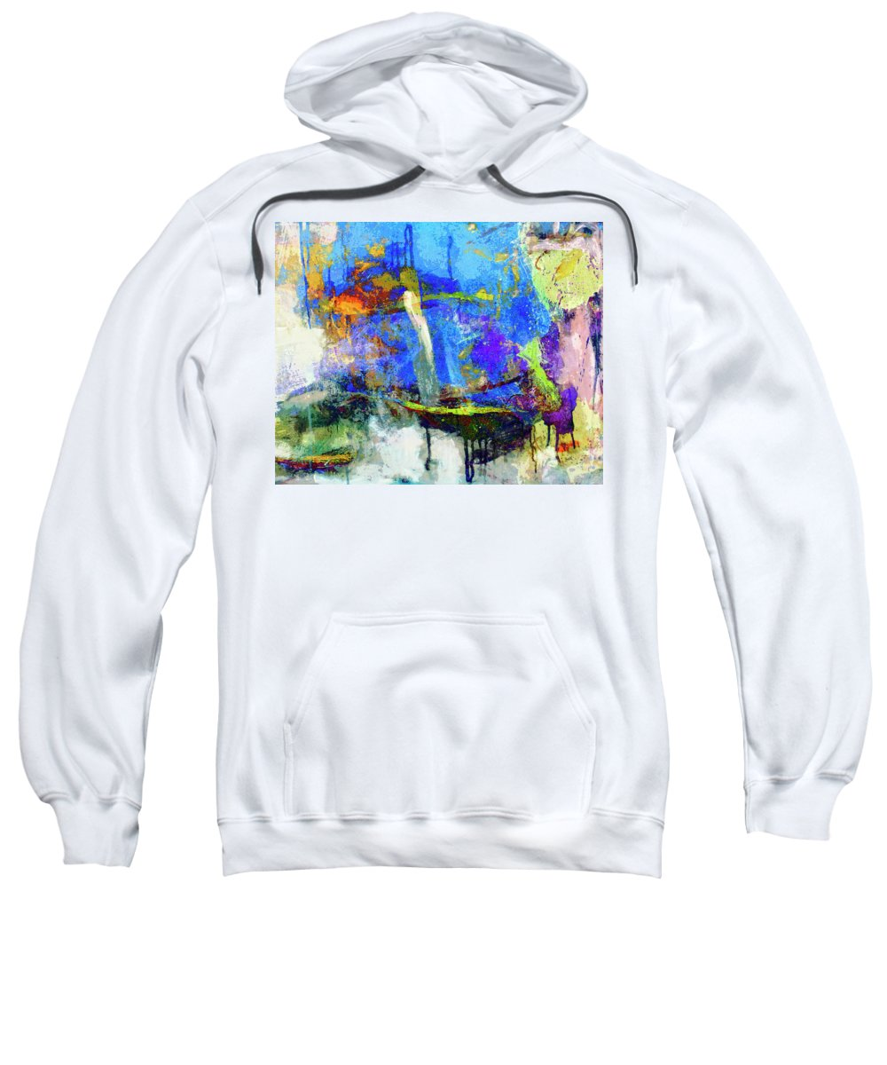 Abstraction Sweatshirt featuring the painting Bayou Teche by Dominic Piperata