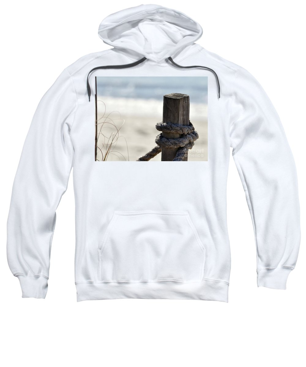 Beach Sweatshirt featuring the photograph Beach Barrier by Al Powell Photography USA