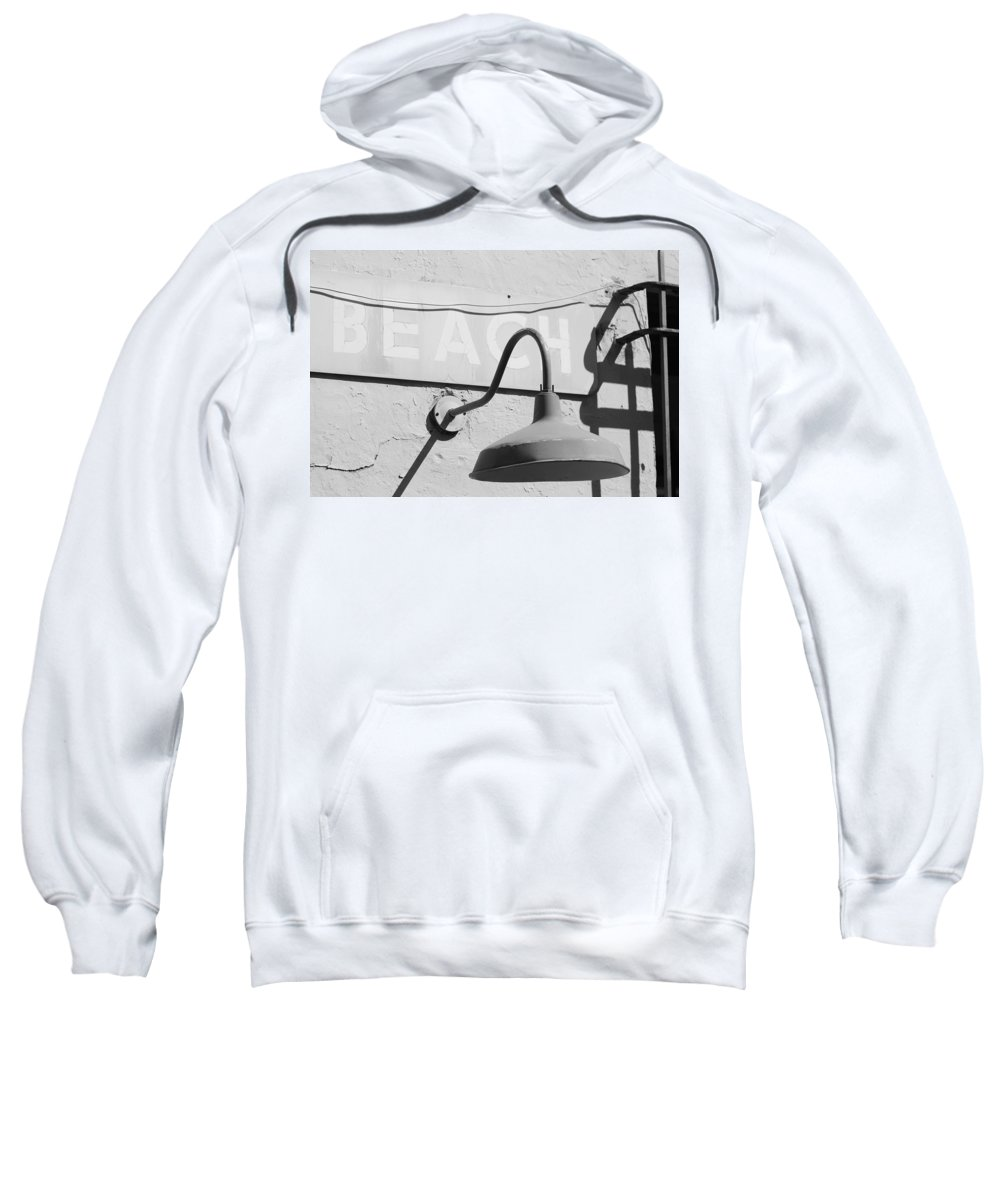 Black And White Sweatshirt featuring the photograph Beach Light by Rob Hans