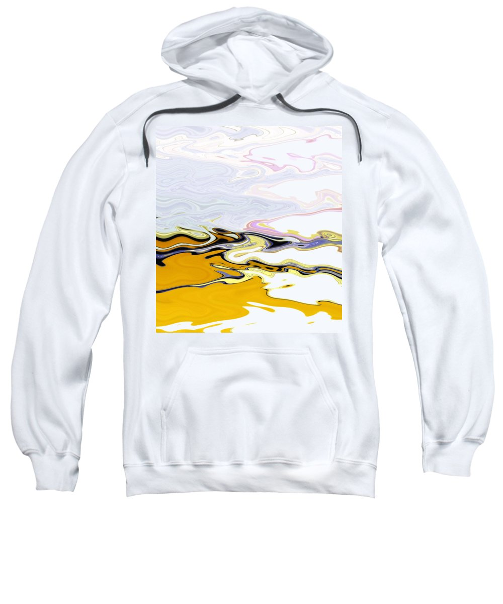 Abstract Sweatshirt featuring the digital art Beachcomber by Lenore Senior