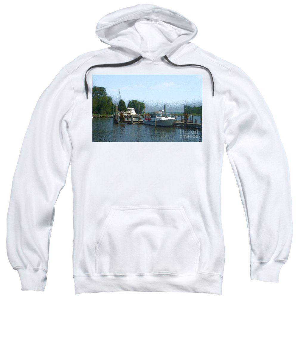 Boat Sweatshirt featuring the photograph Beached Buoys by Debbi Granruth