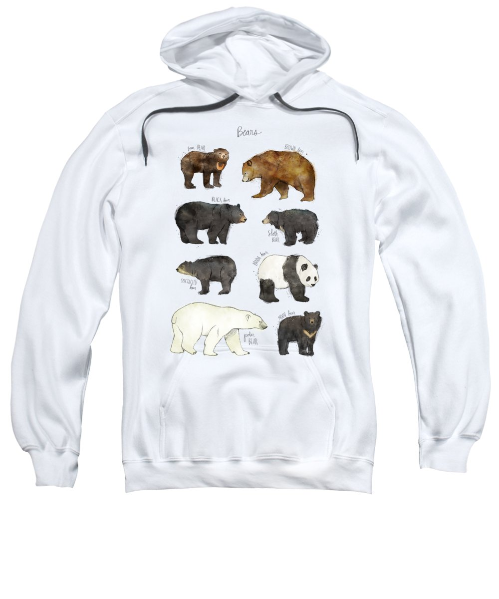 Bear Sweatshirt featuring the drawing Bears by Amy Hamilton