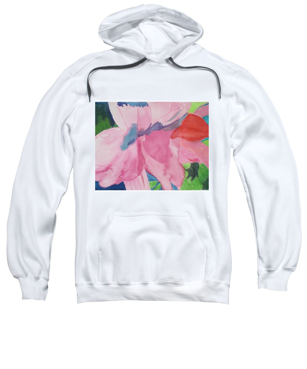 Flower Sweatshirt featuring the painting Beautiful Azalea by Hal Newhouser