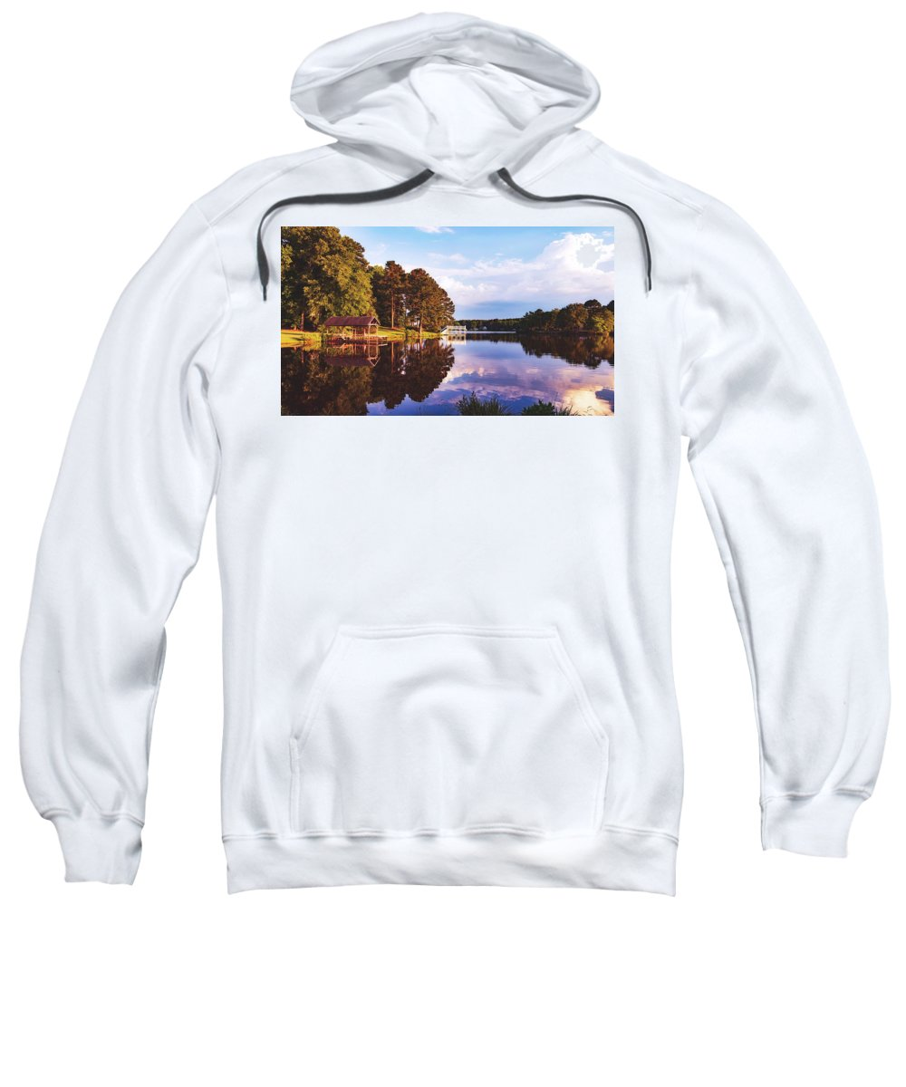 Bunn Lake Sweatshirt featuring the photograph Beautiful Bunn Lake - Zebulon, North Carolina by Library Of Congress