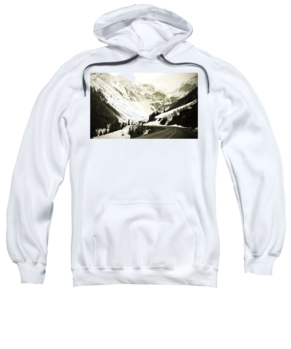 Mountains Sweatshirt featuring the photograph Beautiful Curving Drive Through The Mountains by Marilyn Hunt