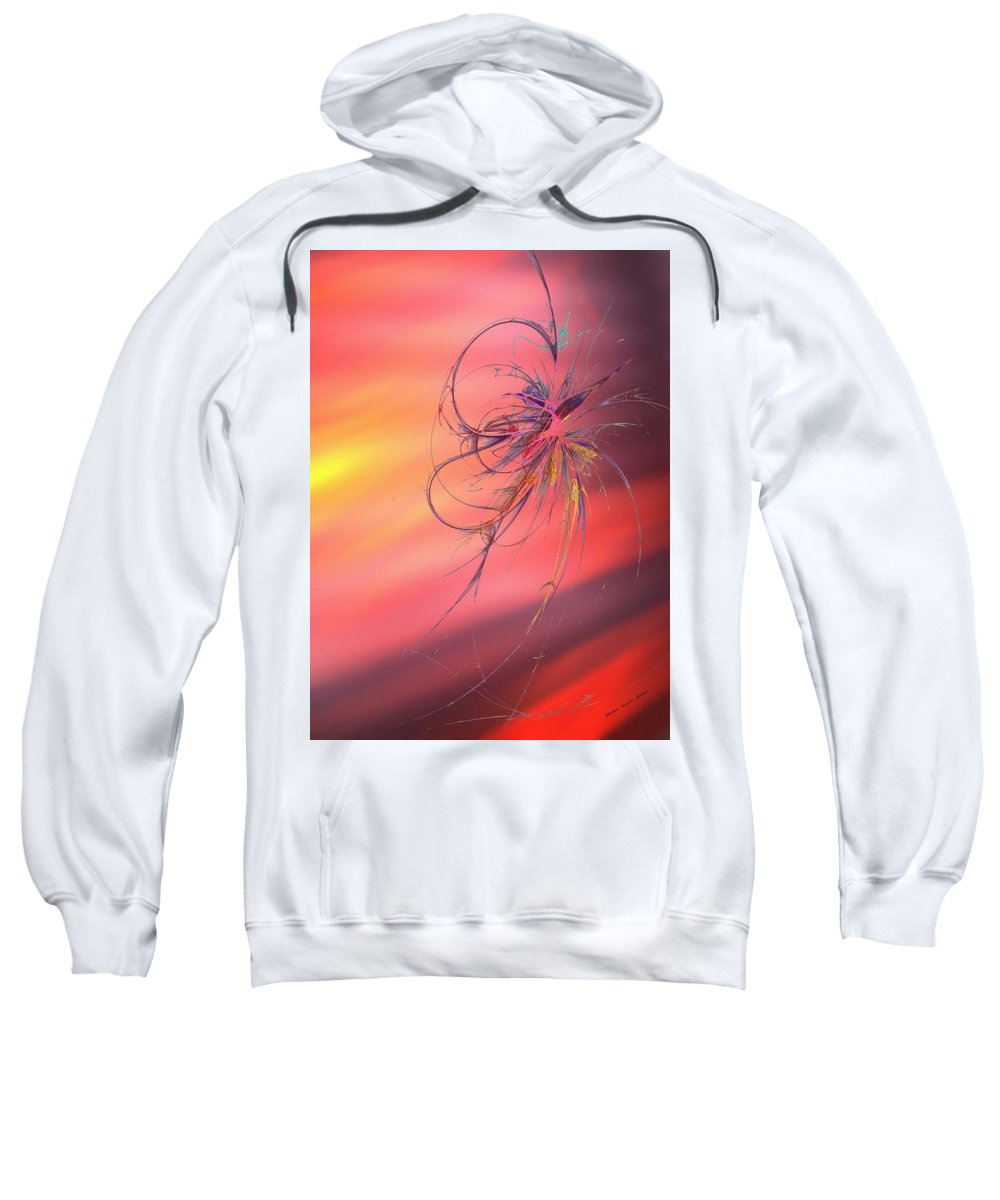 Flower Sweatshirt featuring the painting Beautiful Moment by Steve K