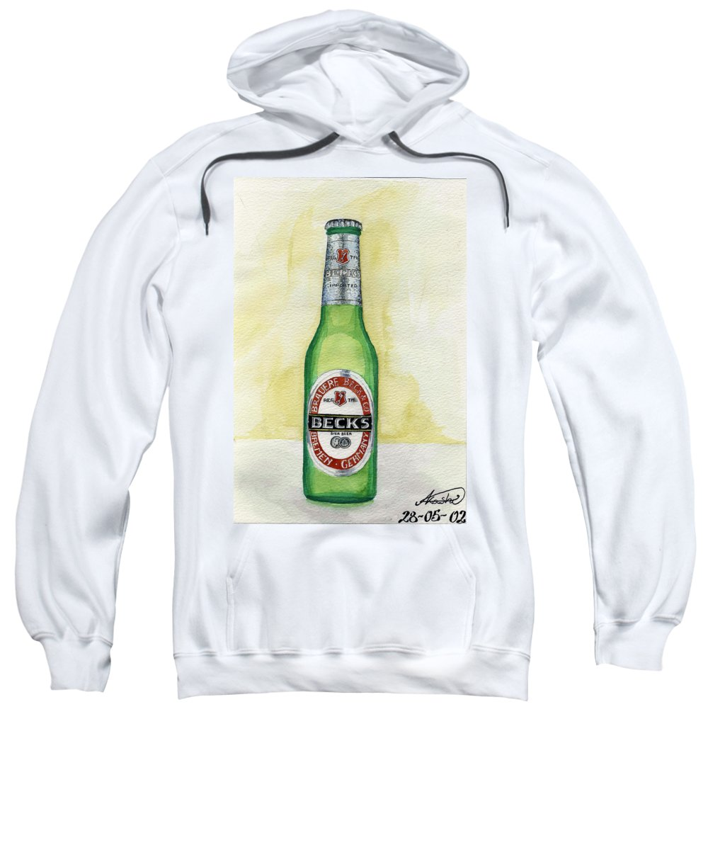 Botle Sweatshirt featuring the painting Becks by Alban Dizdari