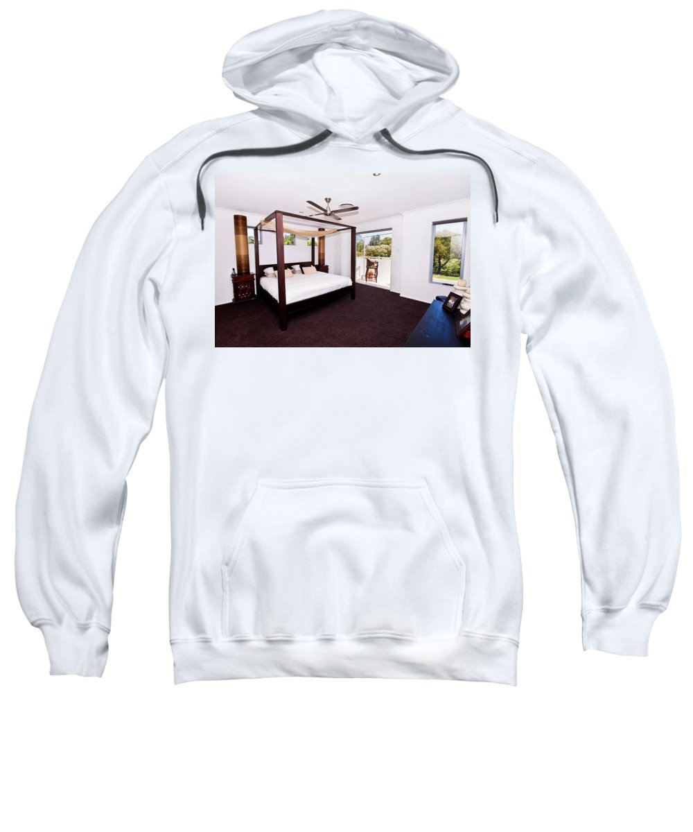 Canopy Sweatshirt featuring the photograph Bed With Canopy by Darren Burton