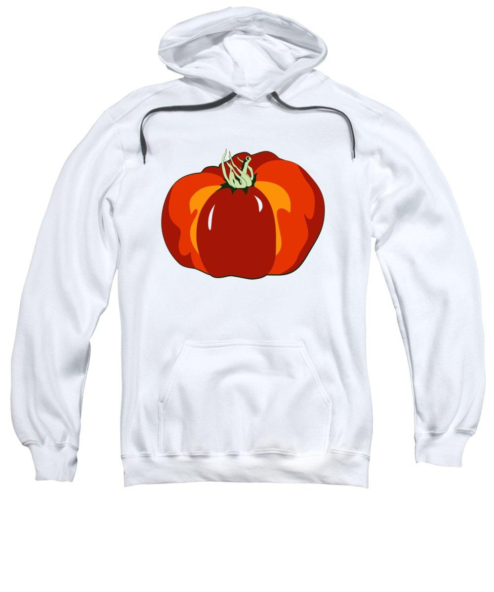 Tomato Sweatshirt featuring the digital art Beefsteak Tomato by MM Anderson
