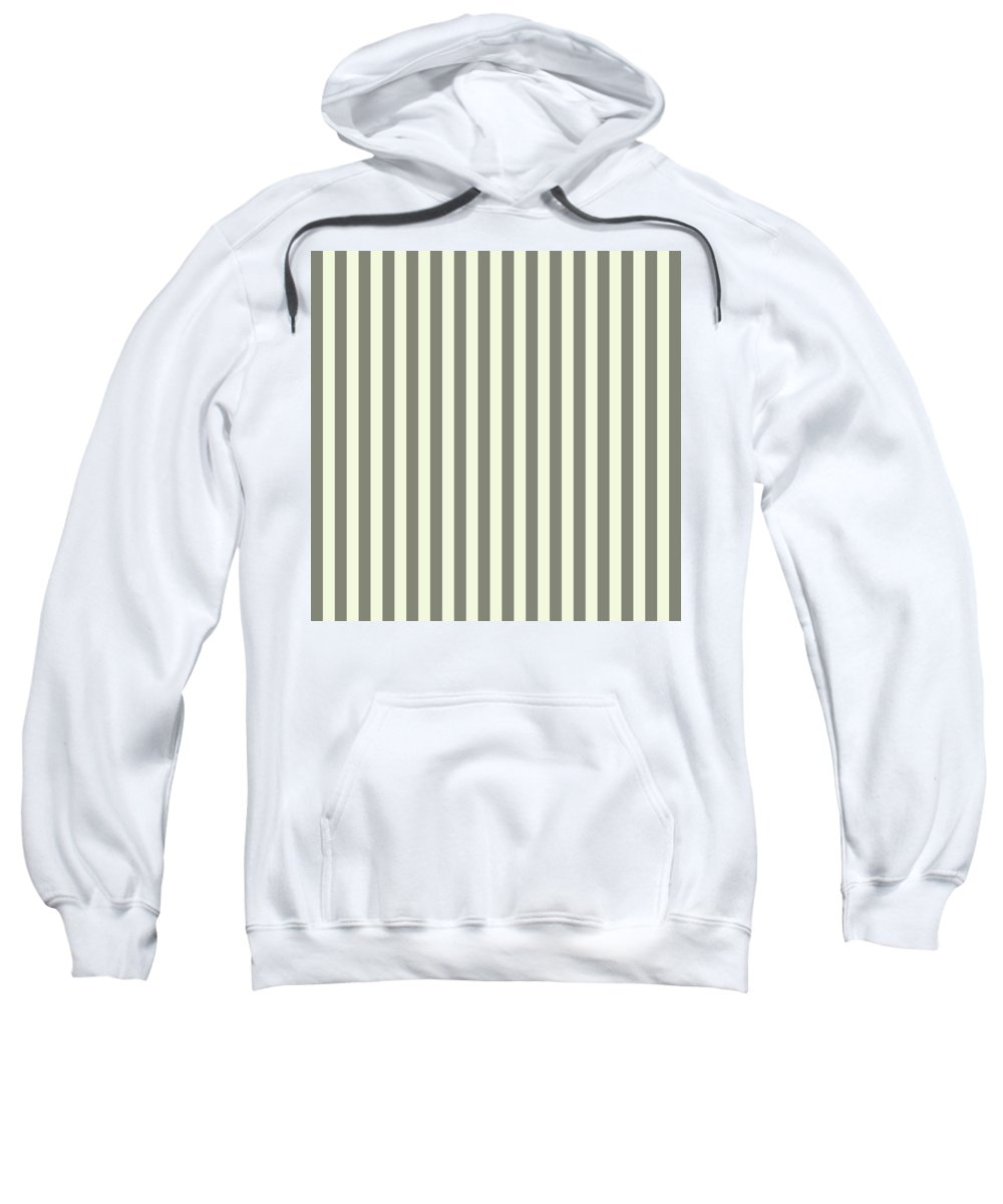 Beige Sweatshirt featuring the digital art Beige White Striped Pattern Design by Ross