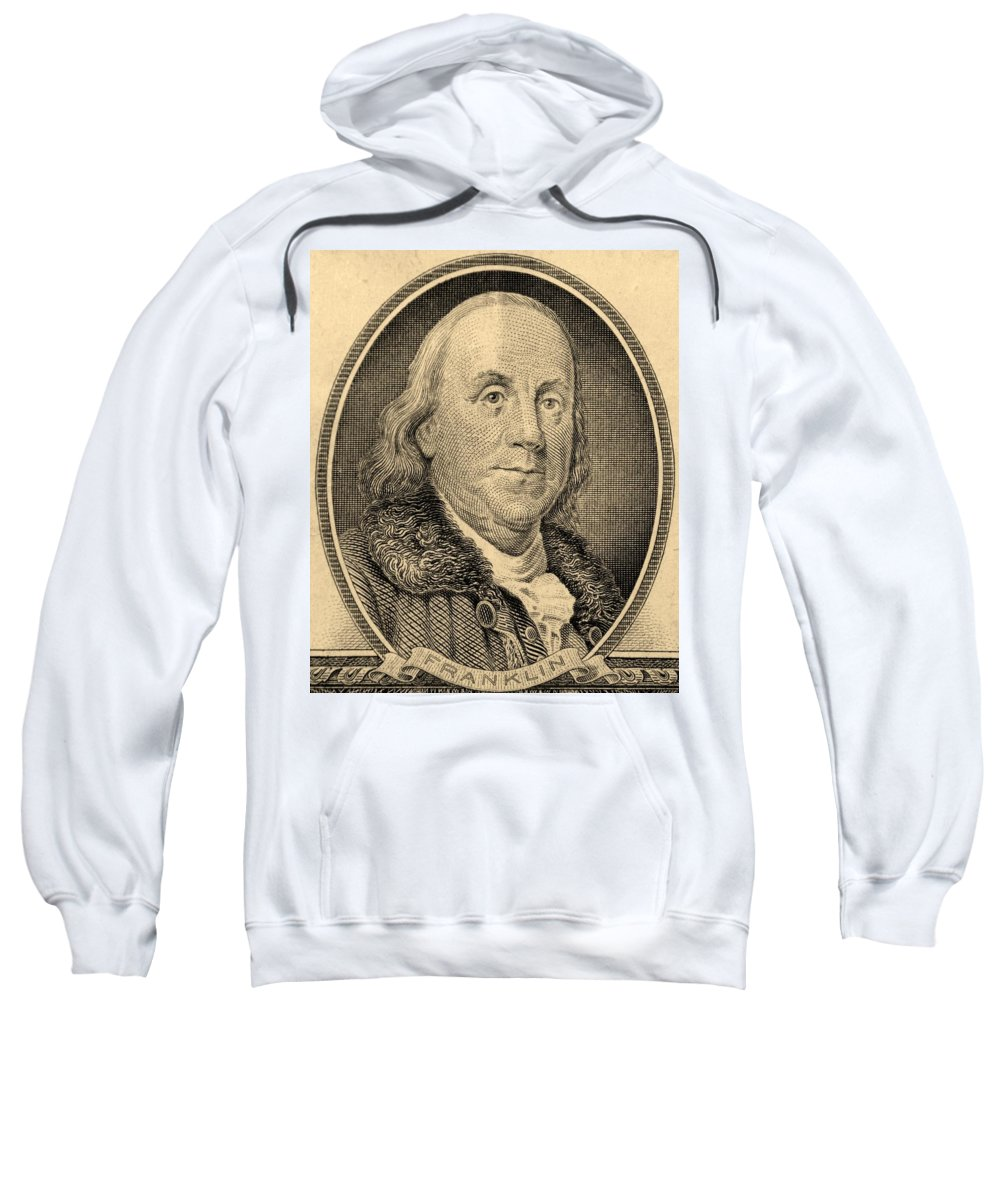 Ben Franklin Sweatshirt featuring the photograph Ben Franklin In Sepia by Rob Hans