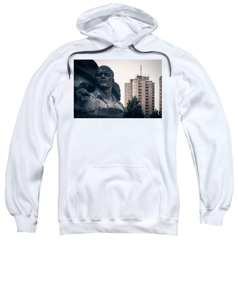 Berlin Sweatshirt featuring the photograph Berlin - Ernst-thaelmann-park by Alexander Voss