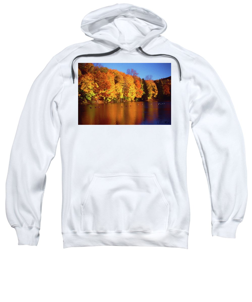Bernharts Dam Sweatshirt featuring the photograph Bernharts Dam Fall 008 by Scott McAllister