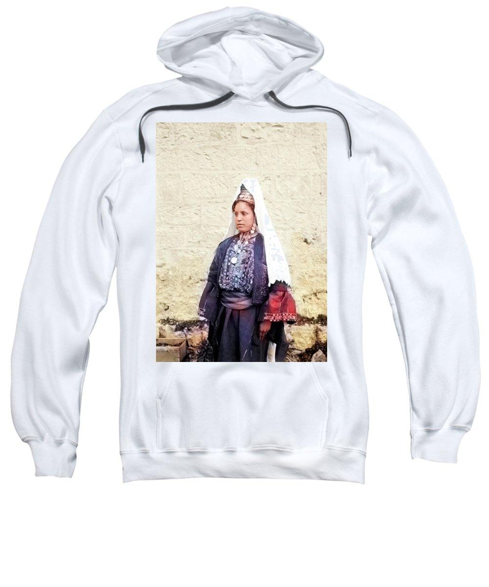 Embroidery Dress Sweatshirt featuring the photograph Bethlehemite 1920 by Munir Alawi