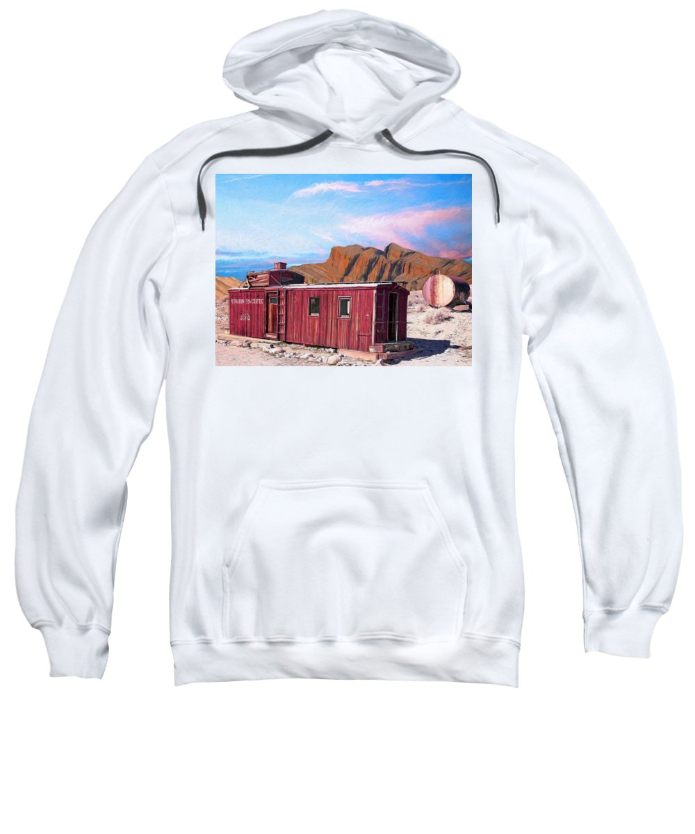 Better Days Sweatshirt featuring the painting Better Days by Dominic Piperata