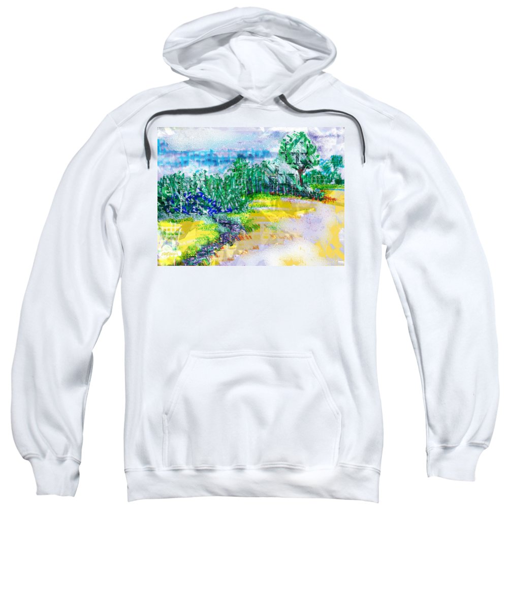 Beyond The Clouds Sweatshirt featuring the drawing Beyond The Clouds by Seth Weaver