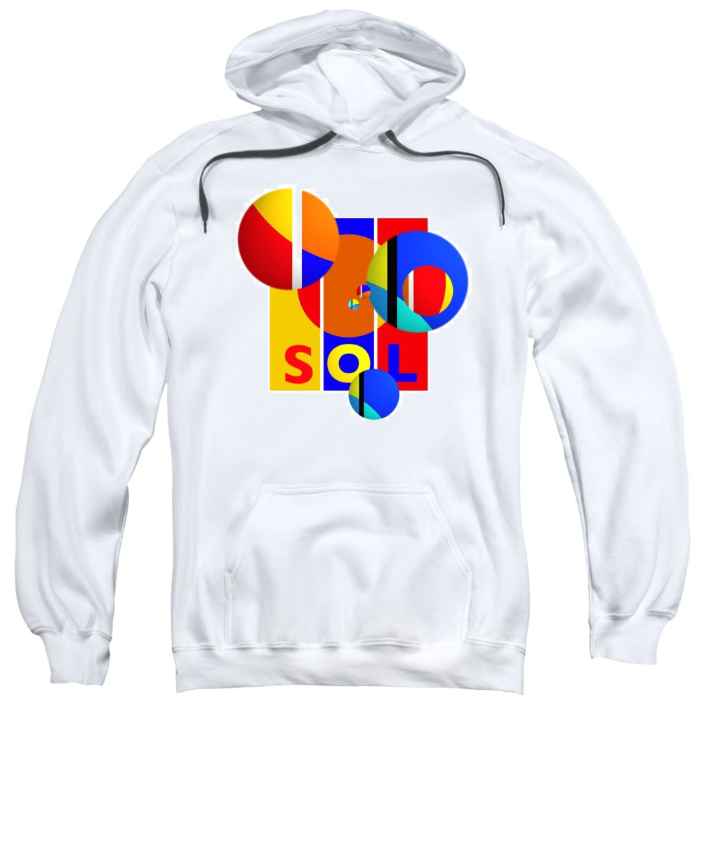 Primary Colors Sweatshirt featuring the painting Big Bang Style by Charles Stuart