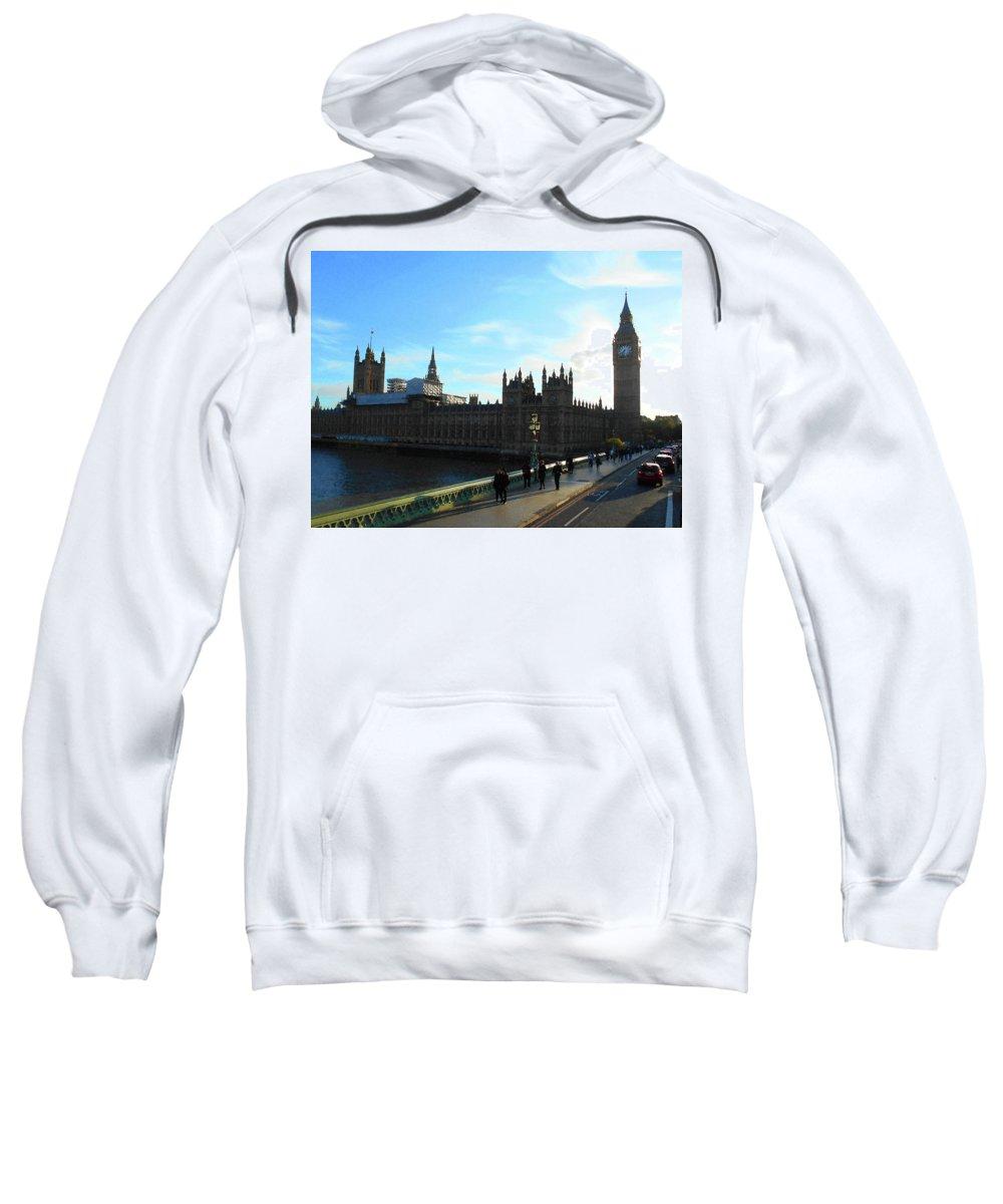 London Sweatshirt featuring the photograph Big Ben And Parliament London City by Irina Sztukowski