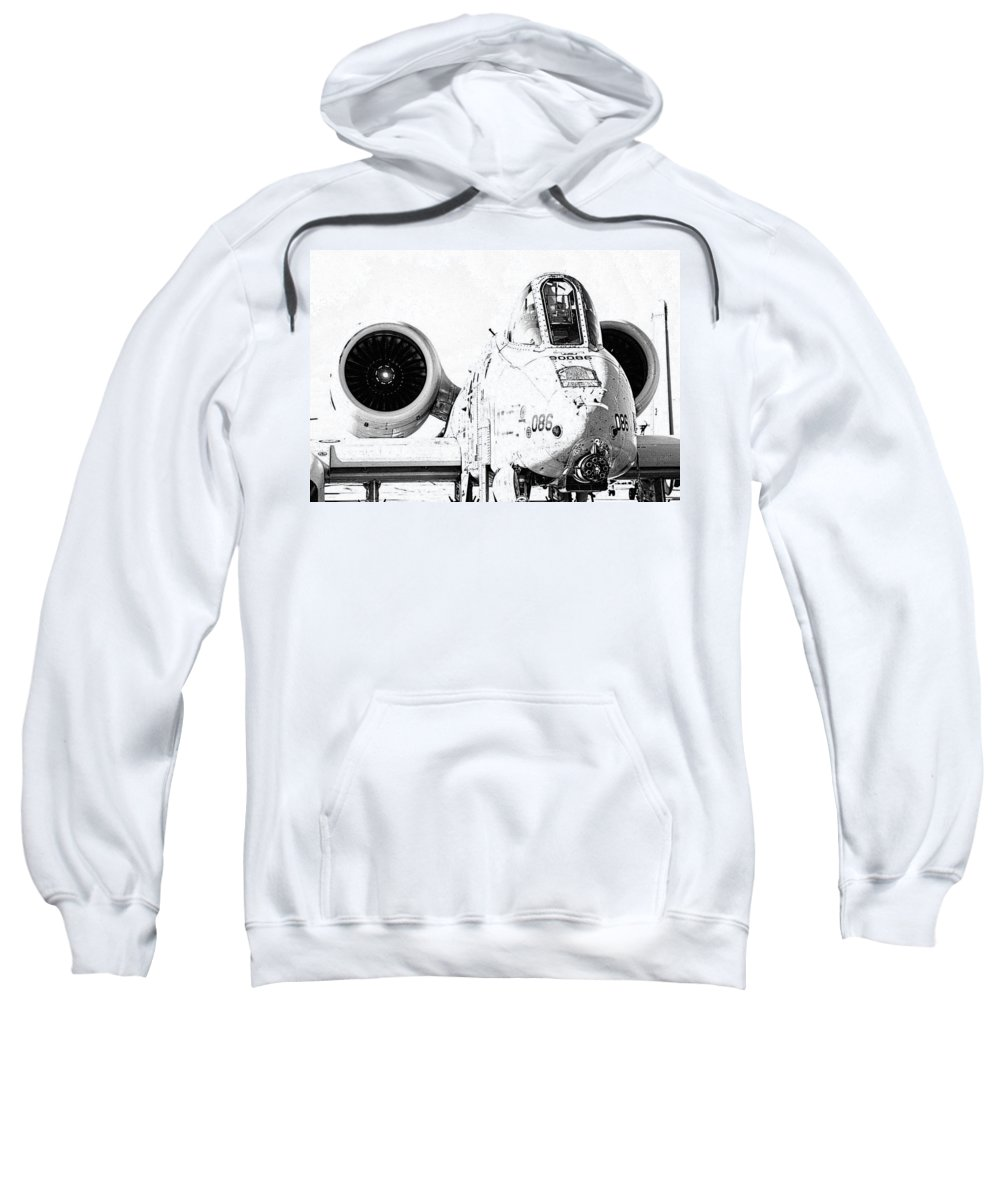 A10 Sweatshirt featuring the photograph Big Guns I by Ricky Barnard