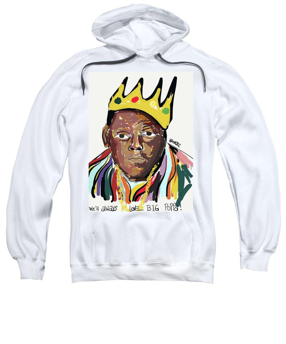 Digital Sweatshirt featuring the painting Big Poppa by Oriel Ceballos