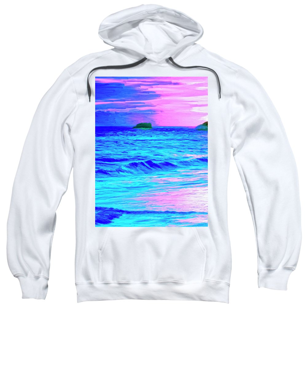 Sunset Sweatshirt featuring the painting Big Sur Sunset by Dominic Piperata
