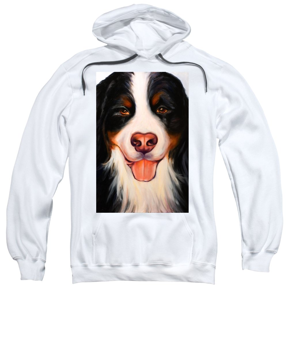 Dog Sweatshirt featuring the painting Big Willie by Shannon Grissom