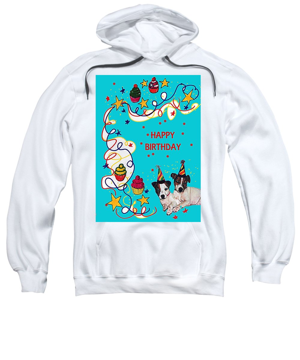 Twins Sweatshirt featuring the drawing Birthday Twins by Al Pascucci