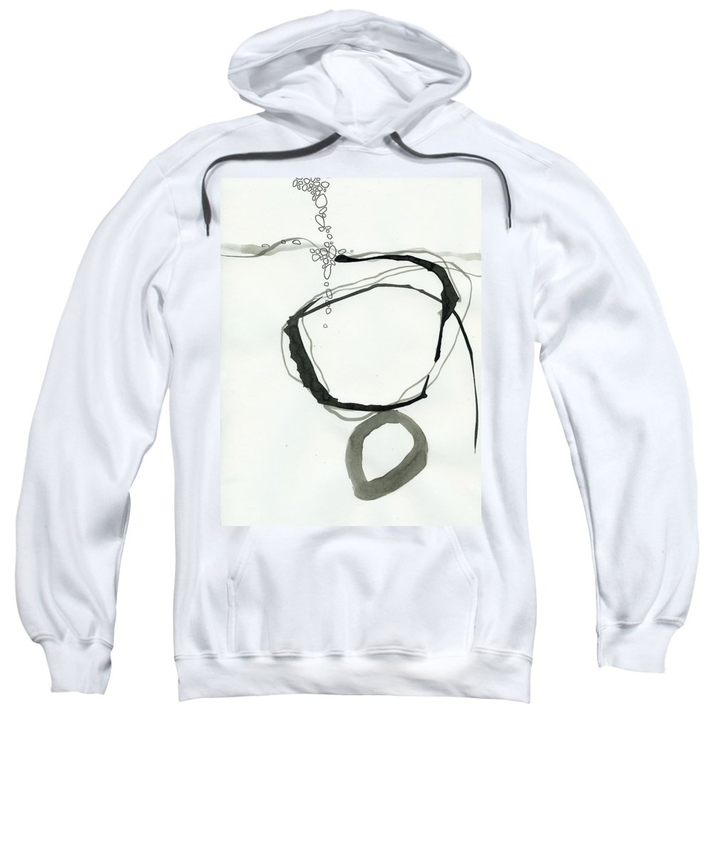 Drawing Sweatshirt featuring the painting Black And White # 22 by Jane Davies