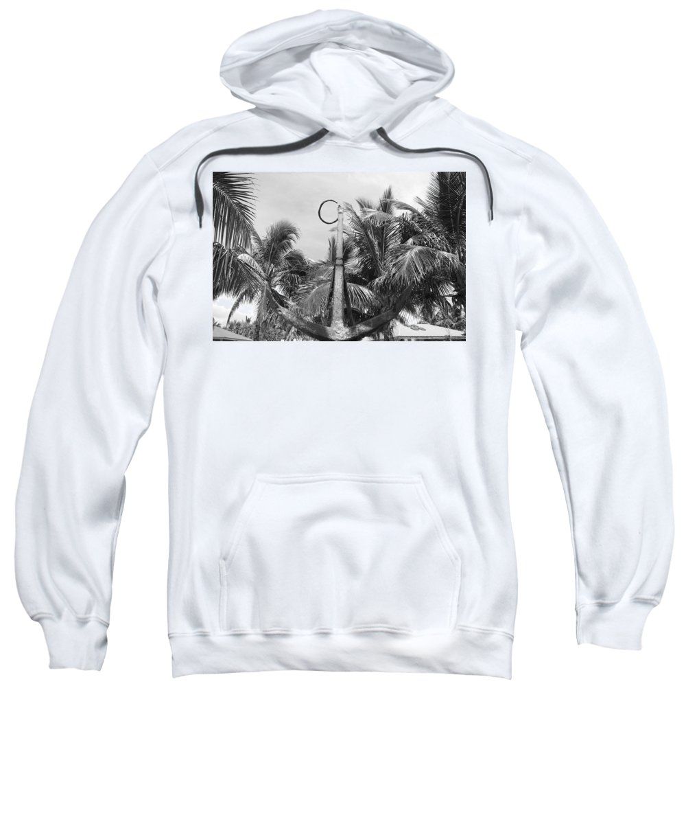 Black And White Sweatshirt featuring the photograph Black And White Anchor by Rob Hans