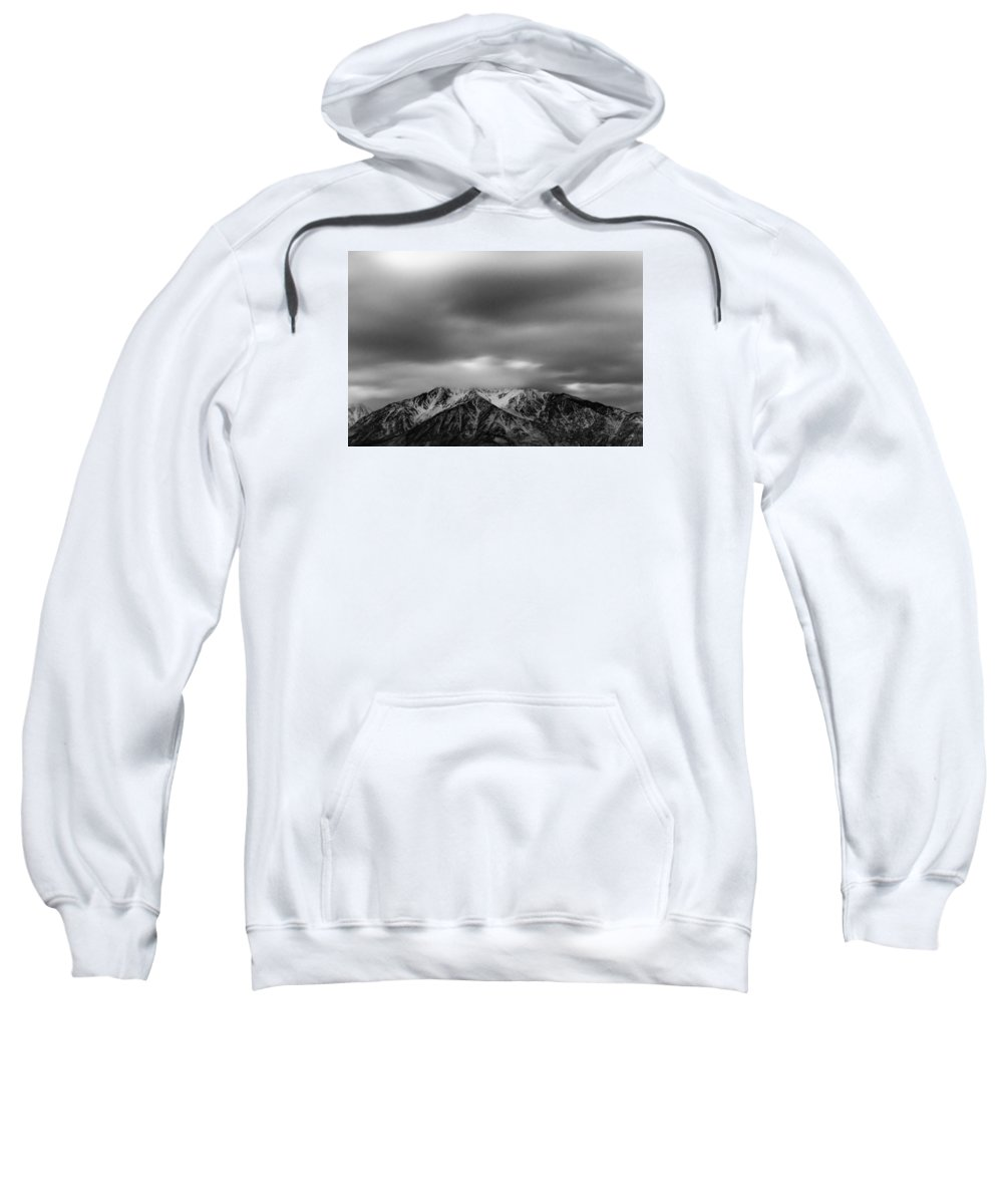 Mountain Sweatshirt featuring the photograph Black And White Night by Kevin Beggs
