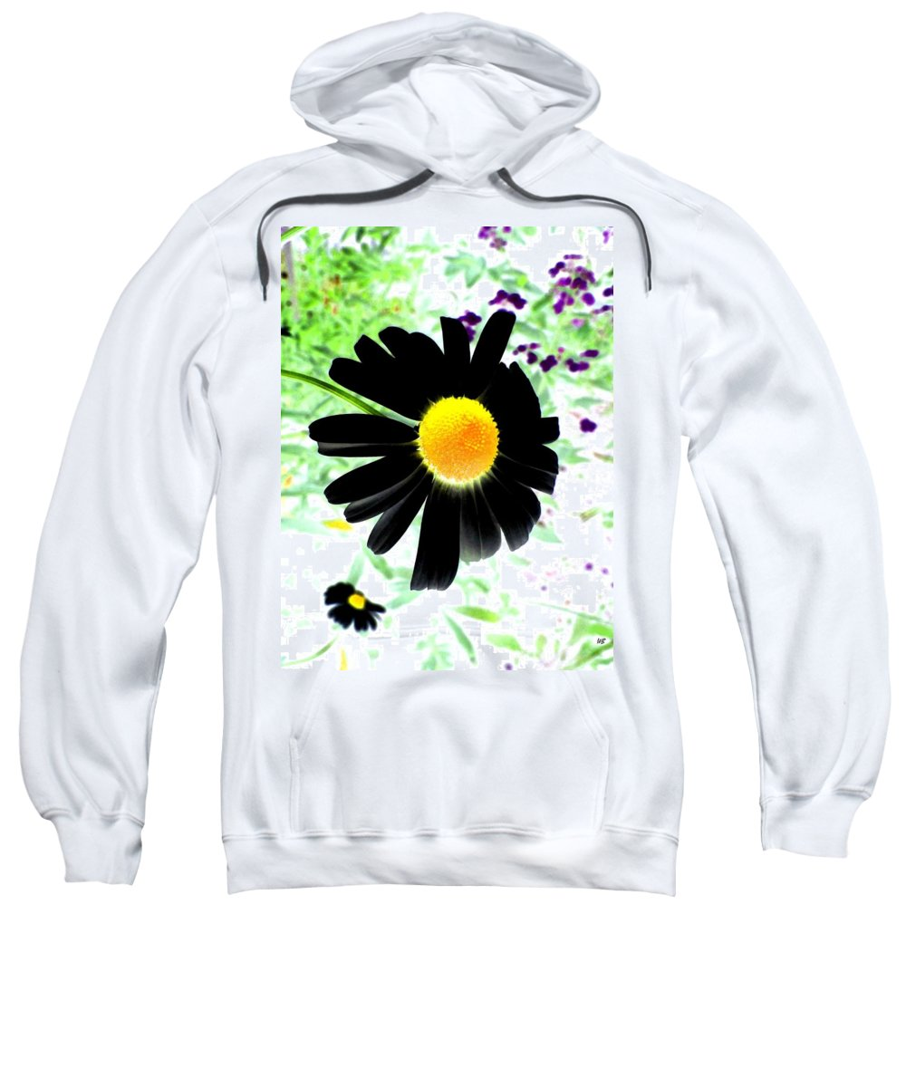 Photo Design Sweatshirt featuring the photograph Black Daisy by Will Borden