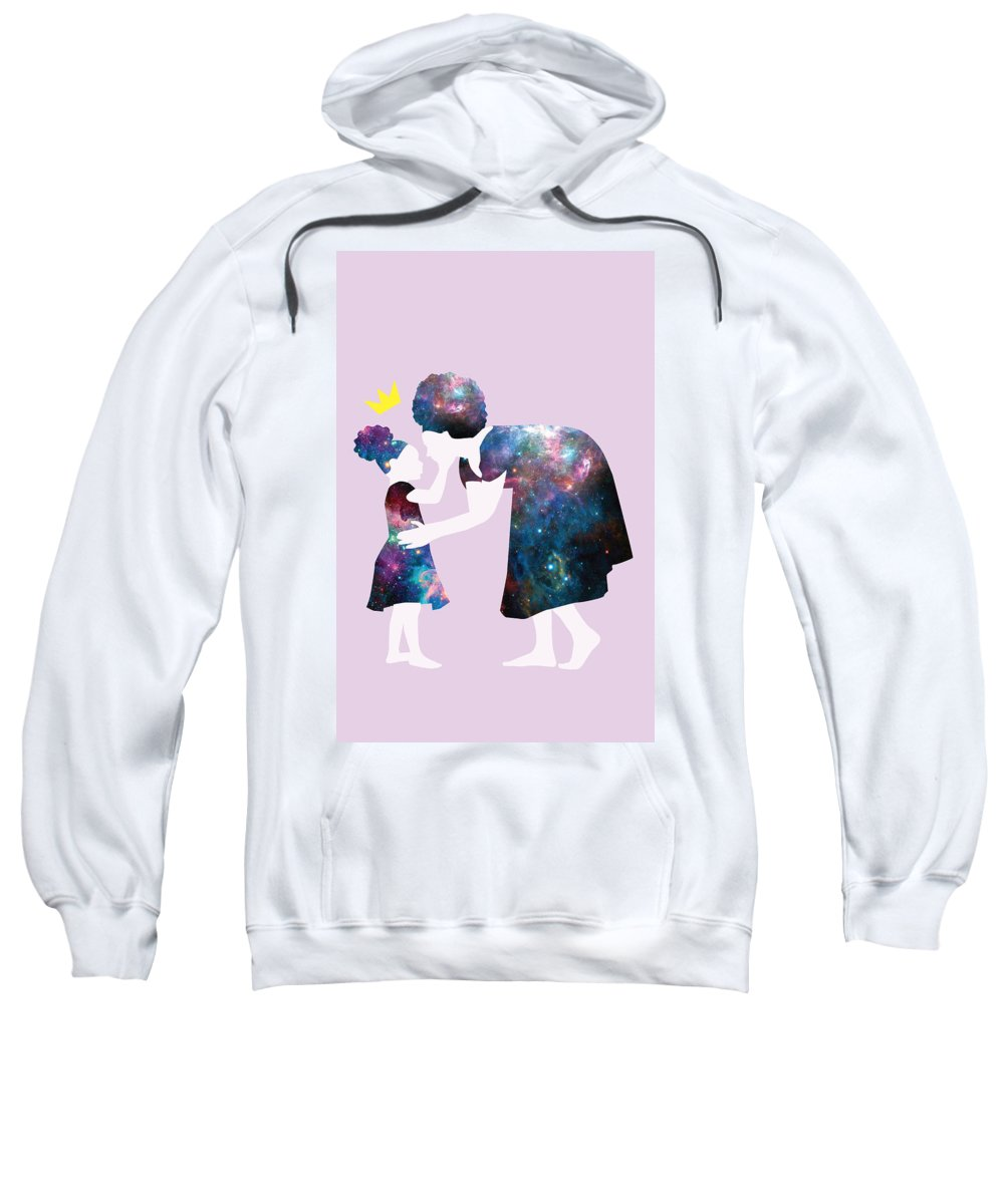 Crown Sweatshirt featuring the digital art Black Girl Magic Pass It On by Karissa Tolliver