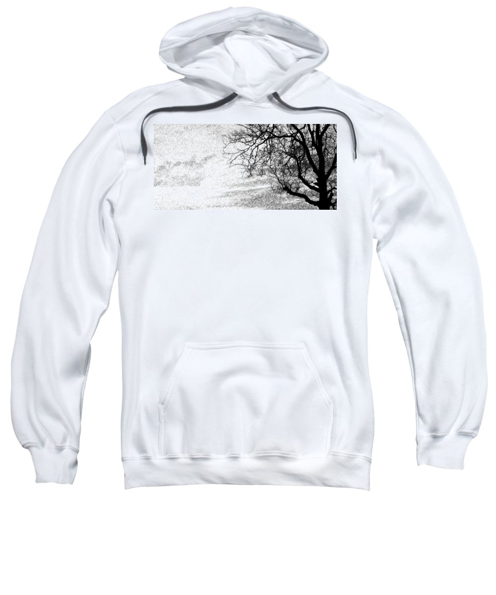 Sky Sweatshirt featuring the photograph Black Rain by Ed Smith