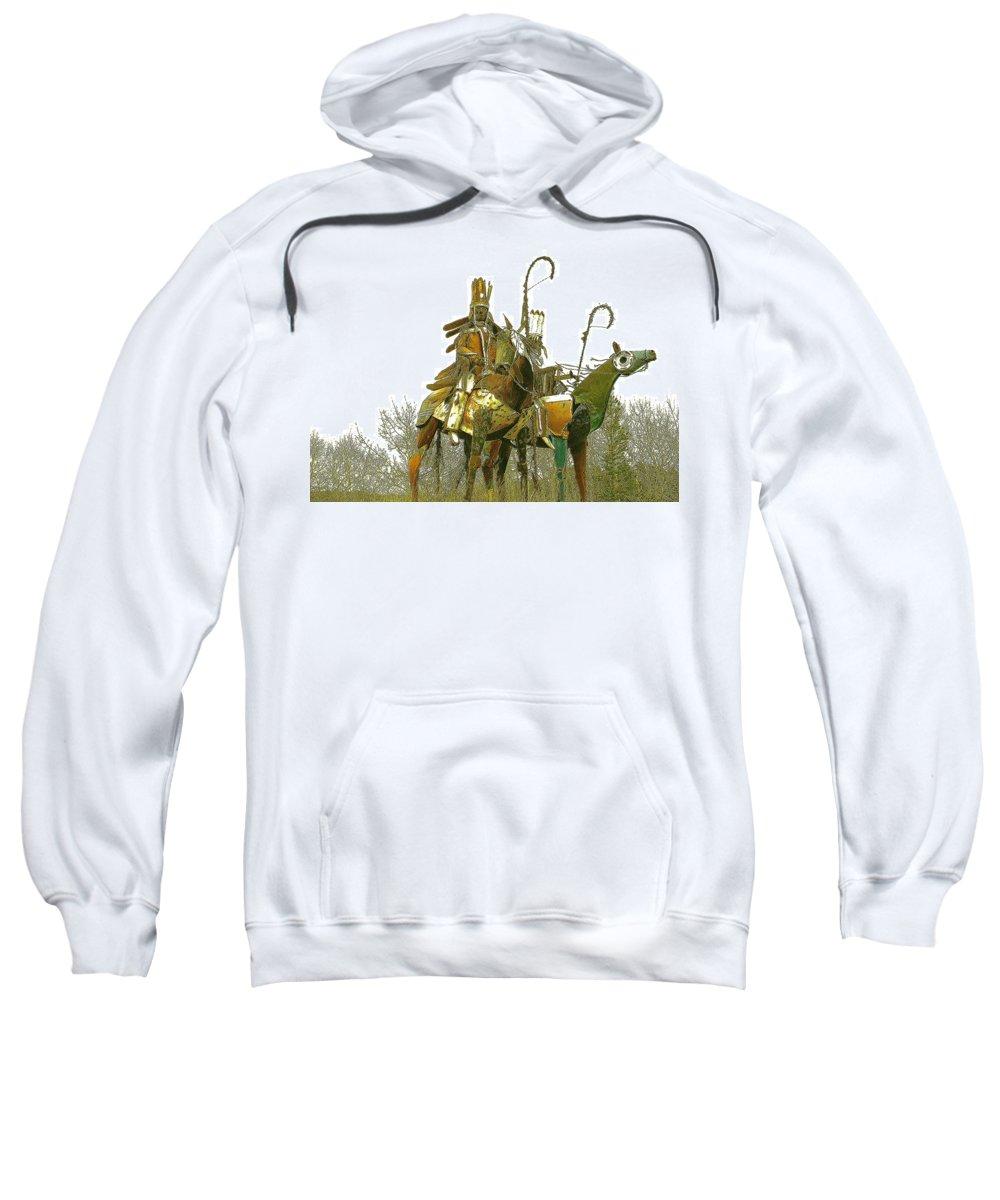 Native American Sweatshirt featuring the photograph Blackfeet Wariors by Nelson Strong
