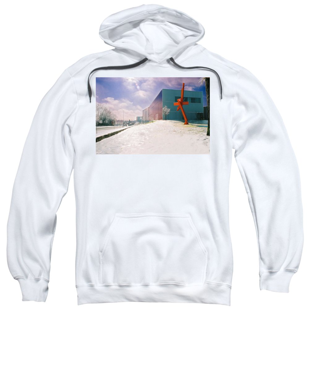 Landscape Sweatshirt featuring the photograph Bloch Building At The Nelson Atkins Museum by Steve Karol