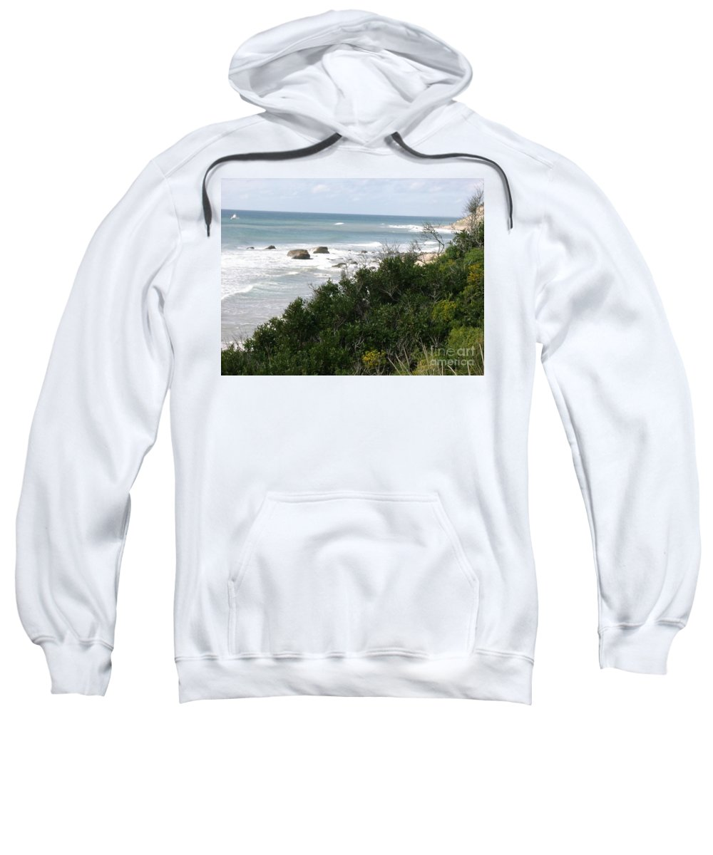 Tide Sweatshirt featuring the photograph Block Island Sea Shore by Anthony Morretta
