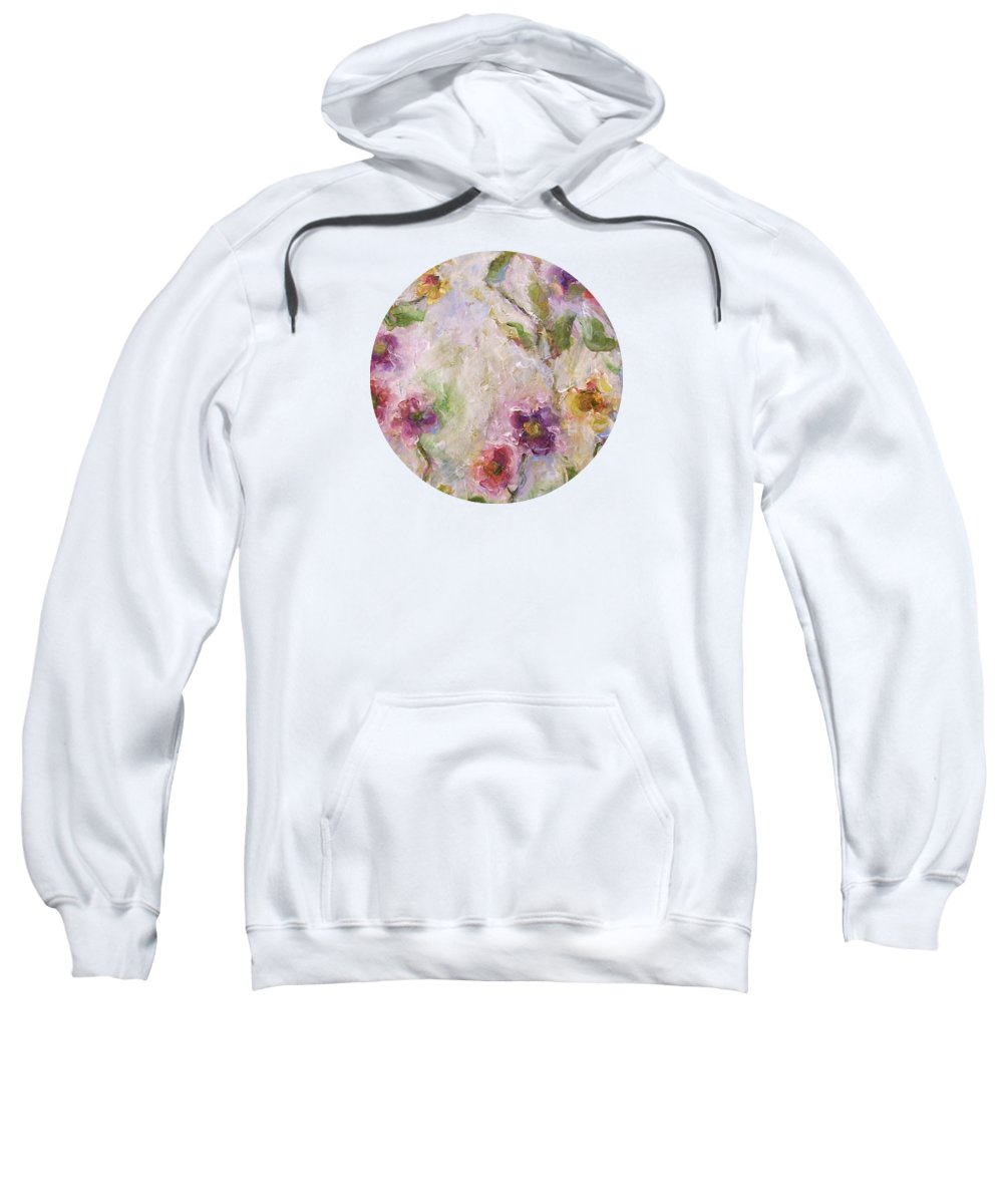 Impressionist Floral Art Sweatshirt featuring the painting Bloom by Mary Wolf