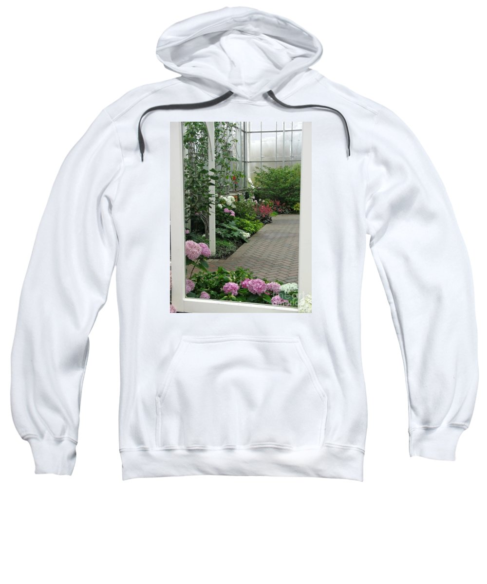 Conservatory Sweatshirt featuring the photograph Blooming Conservatory by Ann Horn