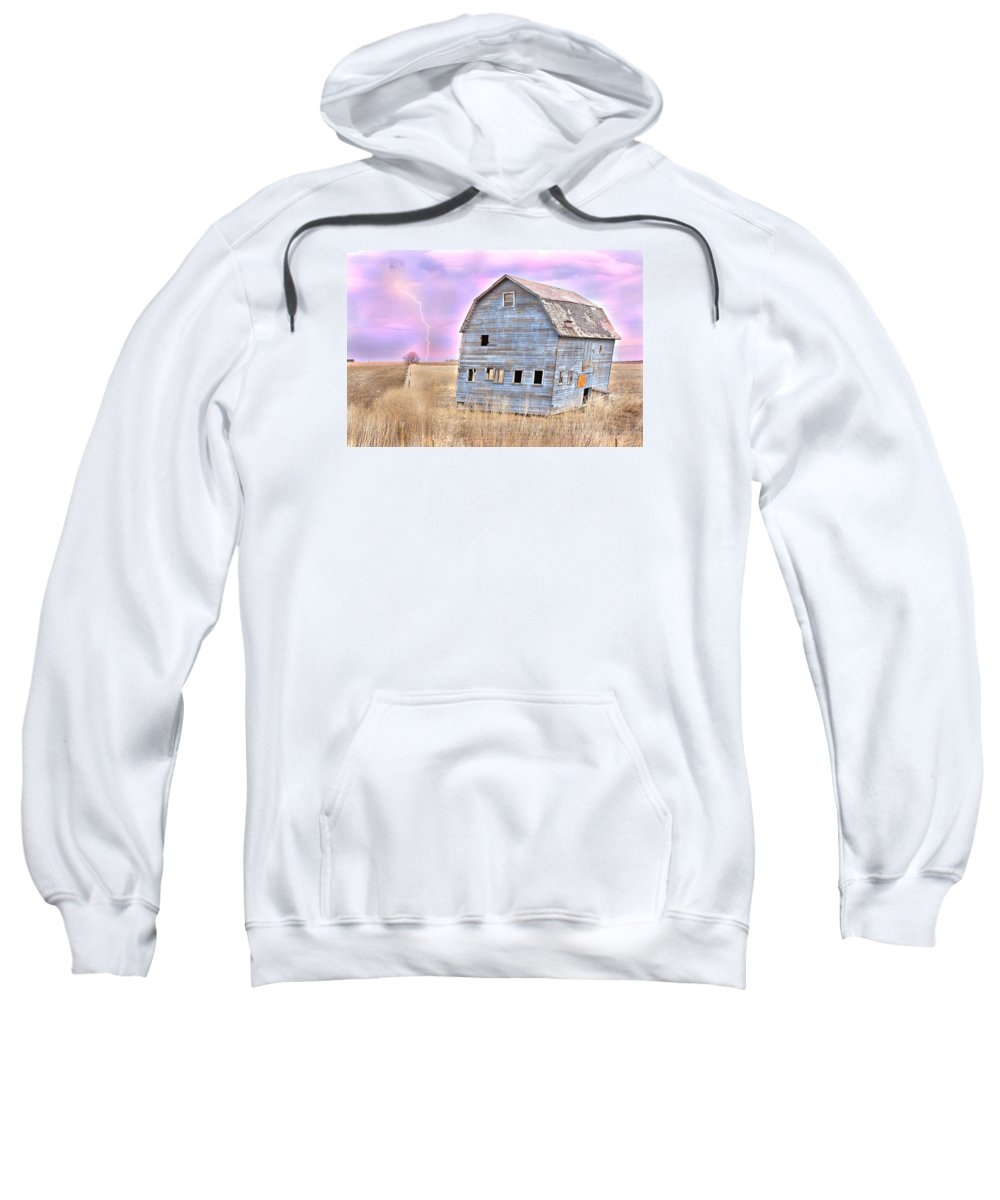 Barns Sweatshirt featuring the photograph Blue Barn by James BO Insogna