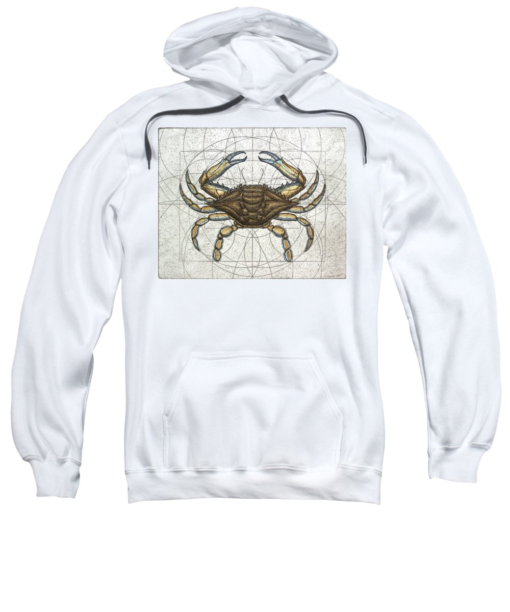 Maryland Sweatshirt featuring the painting Blue Crab by Charles Harden