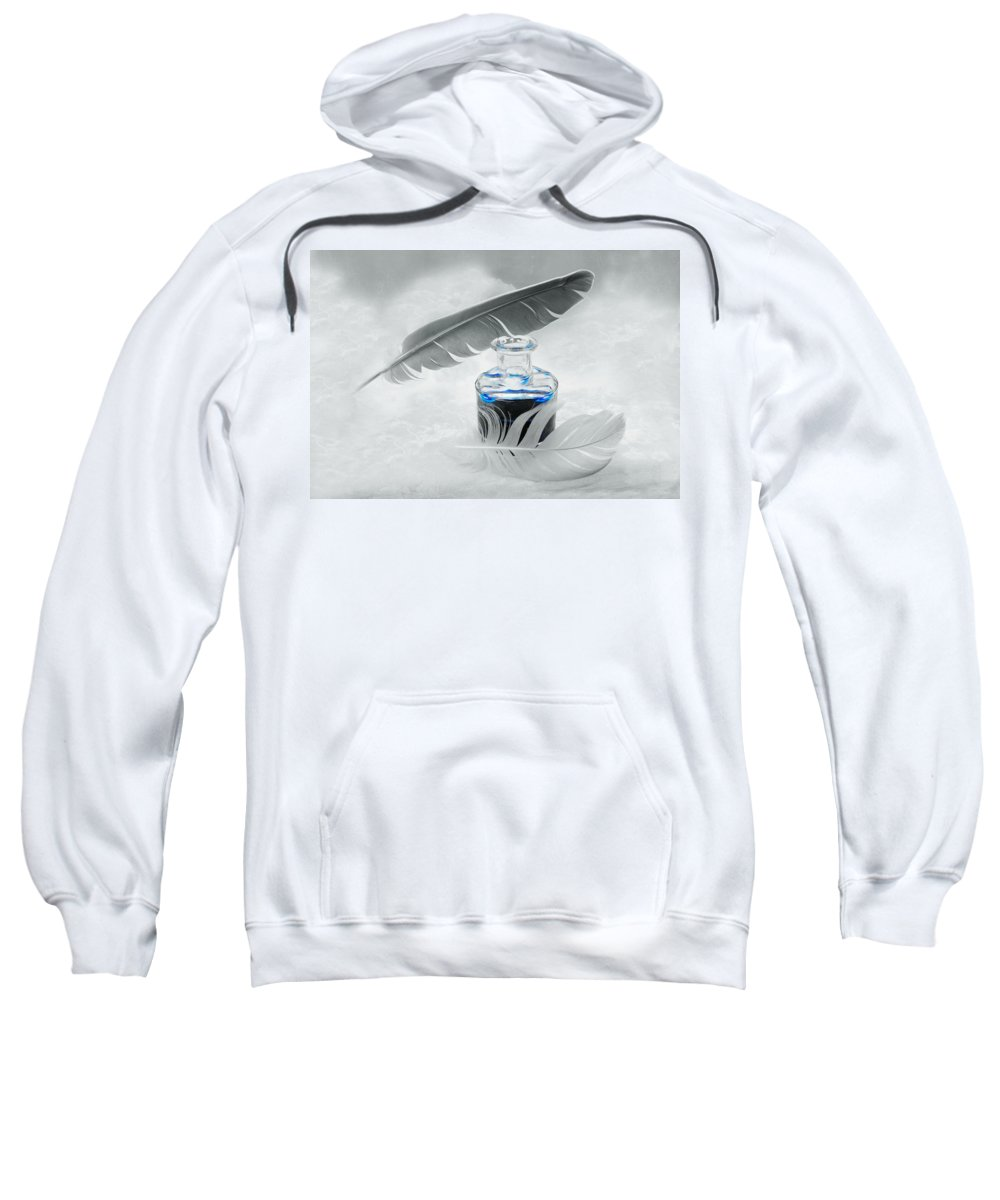 Blue Sweatshirt featuring the photograph Blue Fly by Manfred Lutzius