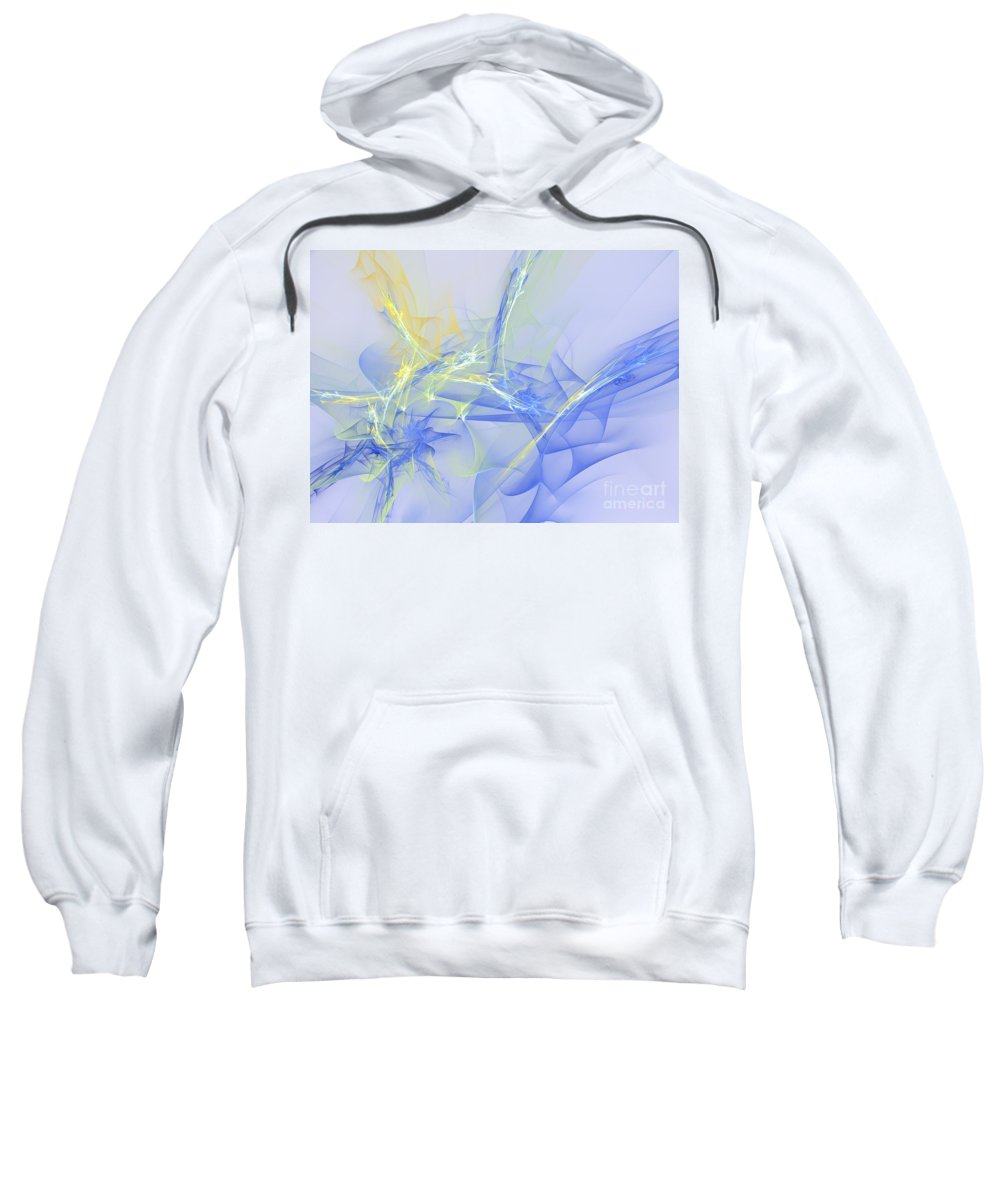 Apophysis Sweatshirt featuring the digital art Blue For You by Deborah Benoit