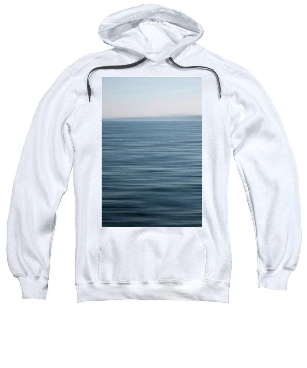 Blue Sweatshirt featuring the photograph Blue Horizon by Savanah Plank