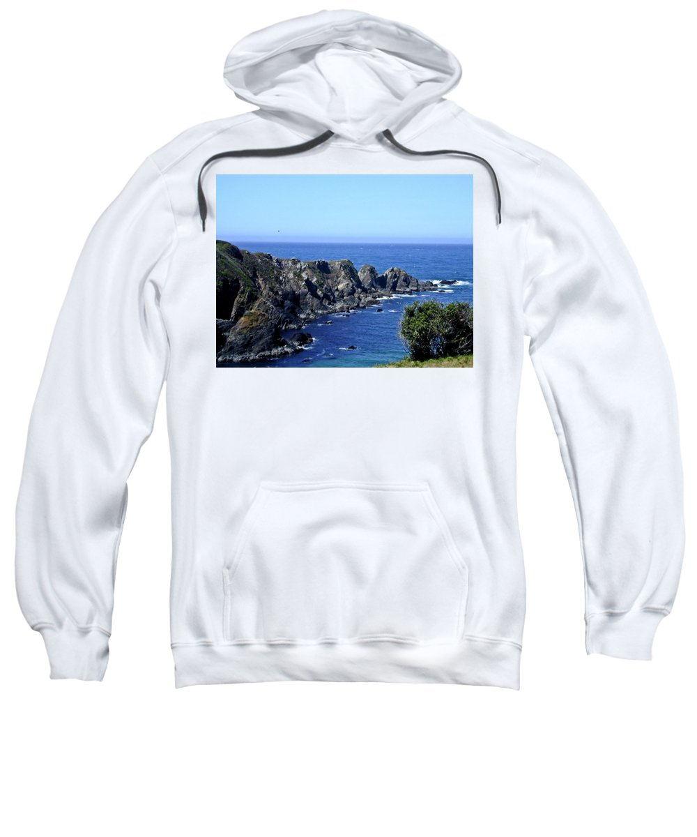 Blue Sweatshirt featuring the photograph Blue Pacific by Douglas Barnett