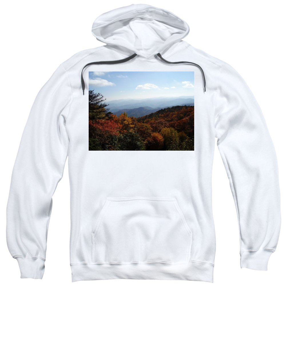 Blue Ridge Mountains Sweatshirt featuring the photograph Blue Ridge Mountains by Flavia Westerwelle