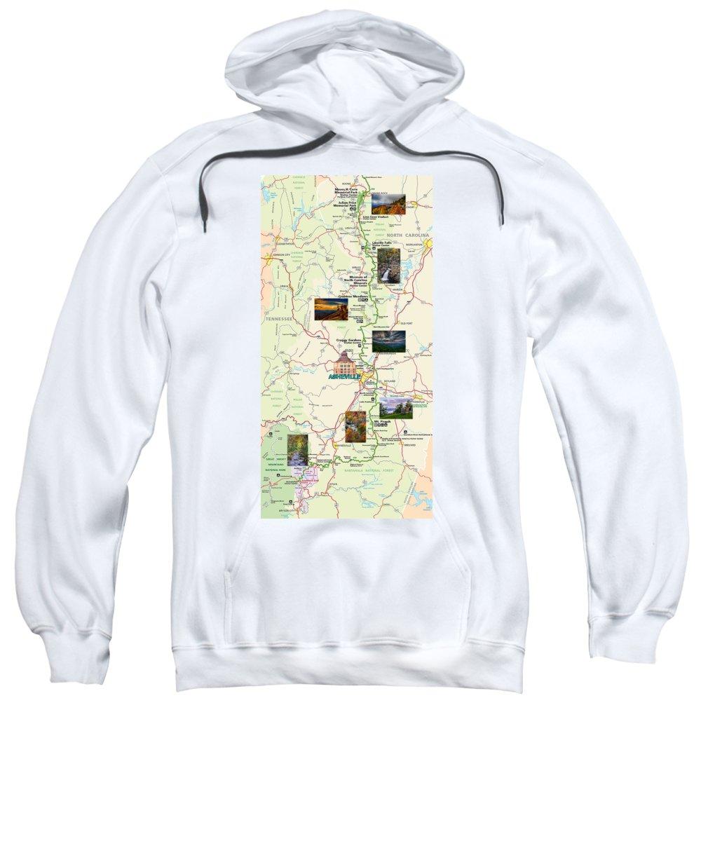 Blue Ridge Parkway Sweatshirt featuring the digital art Blue Ridge Parkway In North Carolina by John Haldane